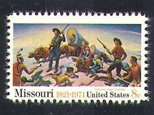 USA 1971 Cattle/Wagon/Settlers/Dog/Animals/Farming/Indians/Art 1v (n37307)