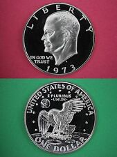 1973-S Deep Cameo Proof Clad Eisenhower Ike Bu Dollar Flat Rate Shipping