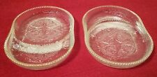 2 Jeannette Glass Harp Crystal W/Gold Rim Coasters��