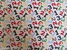 NUMBERS 1 2 3 JUNGLE TOSS MATH COUNTING on 100% COTTON FABRIC Priced By The Yard