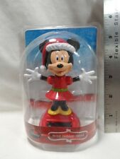 Minnie Mouse Christmas Solar Bobble Head 2015 hallmark B53