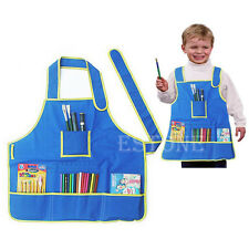 Children's Painting Smock Apron with 4 Pockets  for Painting Kids Art Class