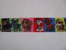 "paw patrol grosgrain ribbon 7/8"" per 1 m hair scrapbooking card making"