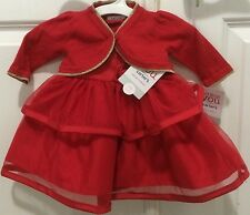 Carter's Just One You Red & Rose Flower Christmas Party Dress Cardigan NB NWT