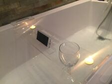 Clear Acrylic Bath Caddy... Wine/smart Phone/tablet/candle Holder