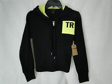 True Religion Neon Hit Zip Front Hoodie in Black MSRP $159 NWT Nice! - in SM