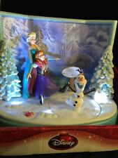 Musical Animated Disney Frozen Skating Table Top Christmas Decor Elsa Olaf Anna