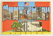 Greetings from Montgomery FRIDGE MAGNET (2 x 3 inches) alabama travel souvenir