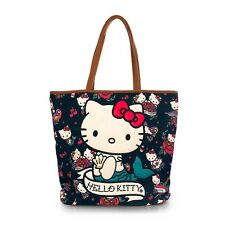 NWT Loungefly Hello Kitty Mermaid Tattoo Appliqued Canvas Tote