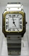 "MONTRE ANCIENNE LANCEL Style ""Cartier"" MOUVEMENT A QUARTZ VINTAGE WATCH 80's"