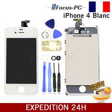 VITRE TACTILE + ECRAN LCD SUR CHASSIS POUR APPLE IPHONE 4 BLANC + OUTILS FR