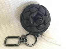 OROTON Zipped Black Leather Key Ring/Holder, Coin Purse