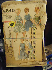 Vintage Simplicity 4540 Pre-Teen Skirt, Blouse, Top & Pants Pattern - Size 14