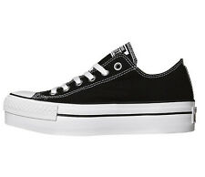 New Converse Chuck Taylor All Star Black White Low Platform Shoe Women's Size 10