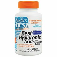 DOCTORS BEST - HYALURONIC ACID - 50mg x 60 CAPS - 100mg PER SERVING CHONDROITIN