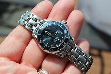 Ladies Omega Seamaster Pro SMP 300M 2583.80 Blue Quartz Women's Watch