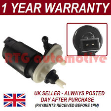 WINDSCREEN WASHER FLUID PUMP FOR NISSAN MICRA 2003-2010 FRONT & REAR TWIN OUTLET