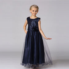 Kid Flower Girls Dress Sequins Party Tutu Dresses Wedding Pageant Gown for Kids