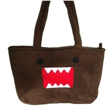 Japanese Super Adorable Brown Cute Domo Kun Shape Soft Large Shopping Tote Bag