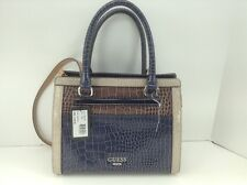Women's GUESS Large Blue Taupe EMANUELA Handbag - $108 MSRP - 10% off
