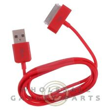 Apple iPhone 4/i4S Data Cable Red Sync USB Charger Cord Transfer Connector Plug