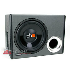 "PowerBass RTA-110 Car 10"" Loaded Subwoofer Ported Enclosure Box + 350W Amp New"