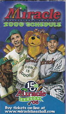 2006 FT. MYERS MIRACLE MINOR LEAGUE BASEBALL POCKET SCHEDULE