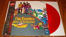THE BEATLES YELLOW SUBMARINE ORIGINAL MONO RED VINYL PRESSING WITH OBI JAPAN