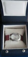 Ladies Philip Stein Water Resistant Watch with Dual Time Zones ~ Red Band ~ Box