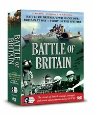BATTLE OF BRITAIN, 3 DVD SET, WWII IN COLOUR, BRITAIN AT BAY, STORY OF SPITFIRE