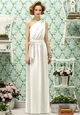 Lela Rose LR 188....Full length, One shoulder, Chiffon Dress......Ivory.....Sz 8