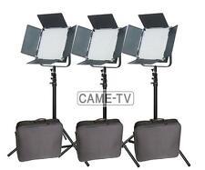 High CRI + Free Bag 3 X 900 LED 5600K Video Light Studio Film Broadcast Lighting