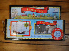 Pirate ship kit wood preshaped parts complete 9 inches long w/ instructions