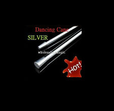 SILVER Aluminum Dancing Cane (2 Parts) Magic Trick Party Show Stage Floating T11