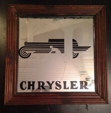 CHRYSLER Car/bike Framed Etched Glass Mirror-Vintage Promotional Display Advert