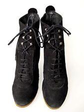 ZARA schuhe gr. 41 WILDLEDER schwarz platform sehr bequem shoe