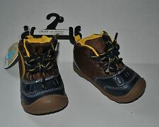 New  CARTER'S CHILD of MINE Baby Boy's Winslow Lace-Up Boots Adorable! SIZE 3