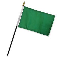 "Solid Green Plain Flag 4""x6"" Desk Table Stick"