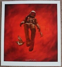 Red Cosmonaut print by Jeremy Geddes signed and numbered