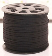 3M Black Genuine leather Suede Cord Beading Thread Lace Flat Making Jewellery