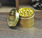 1 x 4 part 50MM Gold Zinc Alloy Tobacco Grinder Herb Chromium Crusher Spice Mill