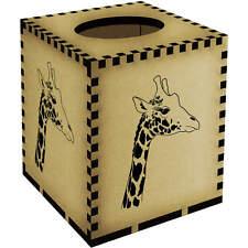 Square 'Giraffe' Wooden Tissue Box Cover (TB00006677)