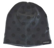 Cuglog Thor Polka Dot Knit Beanie Hat Gray Black