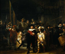 Wonderful art Oil painting Rembrandt - The Nightwatch