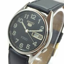 VINTAGE MEN'S SEIKO 5 AUTOMATIC DAY-DATE 17 JEWELS WRIST WATCH AS-1283