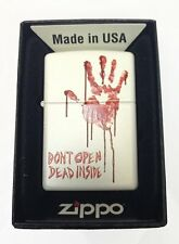Zippo Custom Lighter Bloody Dead Zombie Hand Dont Open Dead Inside White Matte
