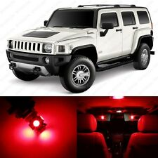 7 x Brilliant Red LED Interior Light Package For 2005 - 2010 Hummer H3