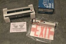 Exit Sign with Battery Backup, Hubbell Lighting - Compass, CELR2RNE recessed