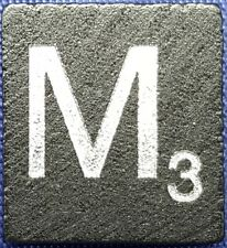Single Scrabble Diamond Anniversary Wood Letter M Tile Replacement Game Part