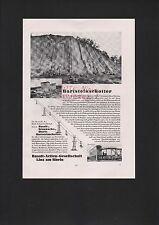 LINZ/RHEIN, Werbung 1935, Basalt-AG Hartsteinschotter